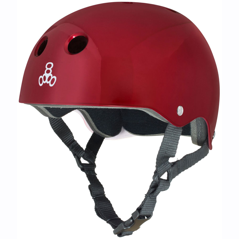 WATER HALO RED METALLIC CE HELMET TRIPLE8 2017